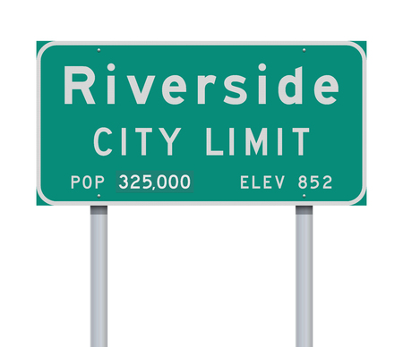 Riverside City Limit road sign