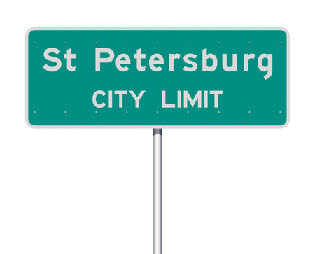 St. Petersburg City Limit road sign