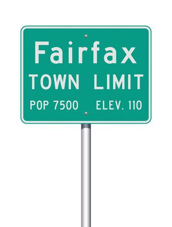 Fairfax Town Limit road sign Illustration
