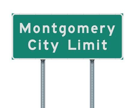 Montgomery City Limit road sign Ilustrace