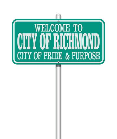 Welcome to Richmond road sign Çizim