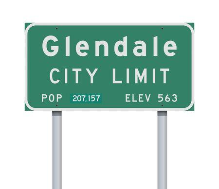 Glendale City Limit road sign