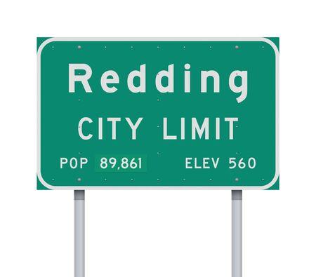 Redding City Limit road sign