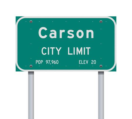 Carson City Limit road sign