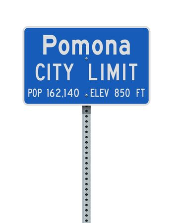 Pomona City Limit road sign