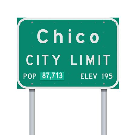 Chico City Limit road sign