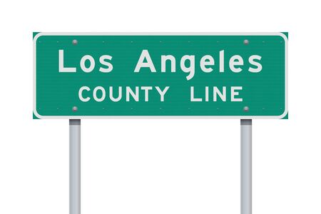 Los Angeles County Line road sign