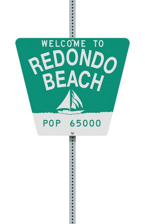 Welcome to Redondo Beach road sign Ilustrace
