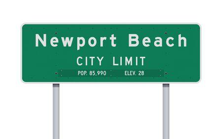 Newport Beach City Limit road sign