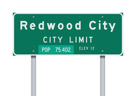 Redwood City City Limit road sign