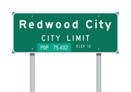 Redwood City City Limit road sign
