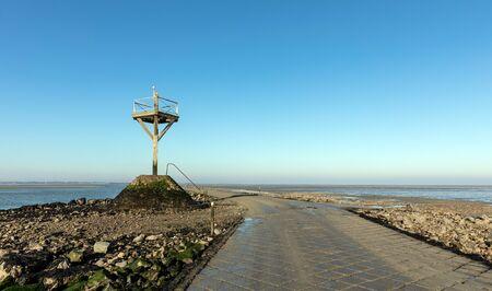 The passage du Gois at low tide (Vendee, France)