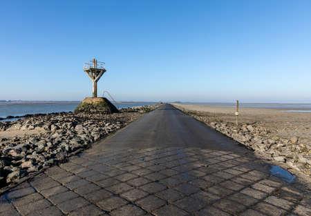 The passage du Gois at low tide (Vendee, France) Standard-Bild