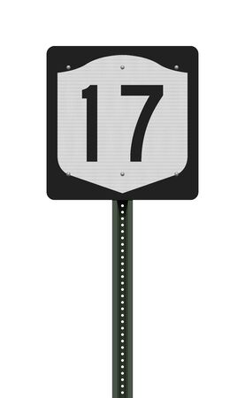 Vector illustration of the New York State Highway road sign on metallic post 向量圖像