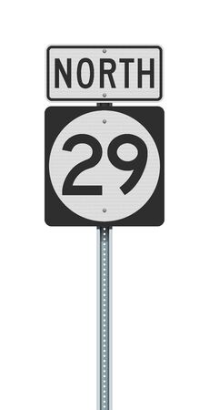 Vector illustration of the New Jersey State Highway road sign on metallic post 向量圖像