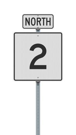 Vector illustration of the Massachusetts State Highway road sign on metallic post