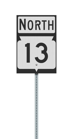 Vector illustration of the Wisconsin State Highway road sign on metallic post