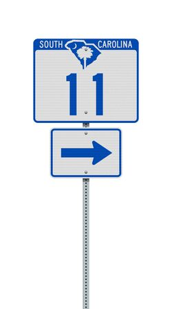 Vector illustration of the South Carolina State Highway road sign on metallic post 向量圖像