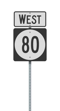 Vector illustration of the Kentucky State Highway road sign on metallic post 向量圖像