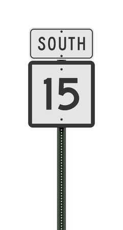 Vector illustration of the Connecticut State Highway road sign on metallic post