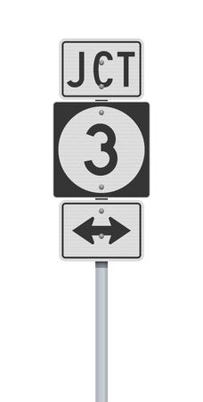 Vector illustration of the Iowa State Highway road sign on metallic post 向量圖像