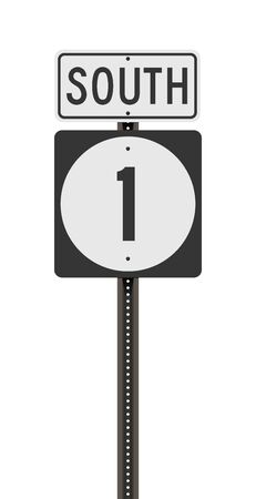 Vector illustration of the Mississippi State Highway road sign on metallic post