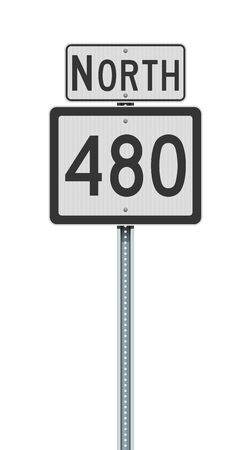Vector illustration of the West Virginia State Highway road sign on metallic post