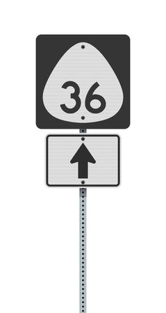 Vector illustration of the Hawaii State Highway road sign on metallic post