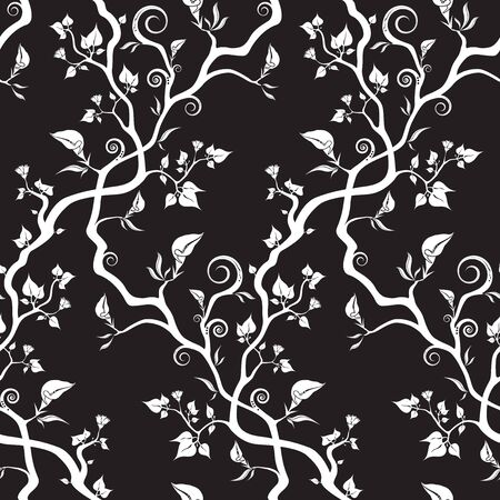 Fantasy Wallpaper, Seamless Pattern