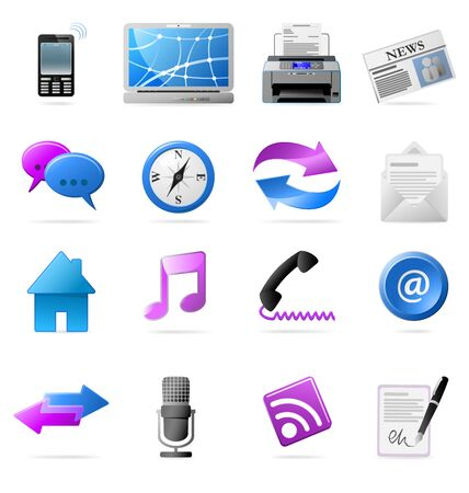 Communication Icons Stock Vector - 18104172