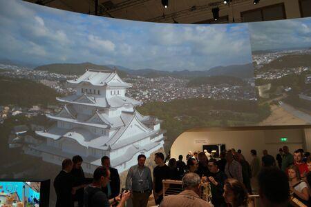 sony: IFA 2015 Berlin, Germany - Sony camera stand