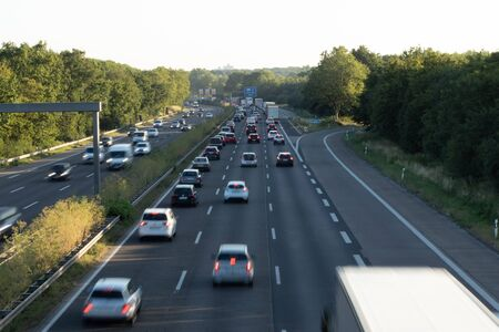 Motorway A555, direction Cologne, traffic jam