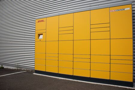 DHL packing station, parcel station, Huerth, August 15th 2019