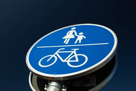 german sign for pedastrian and bicycle way