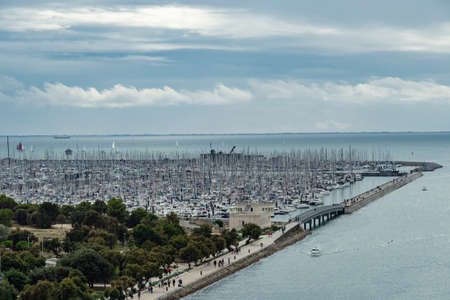 View over the huge marina at the city outskirts of la rochelle, france Stock Photo