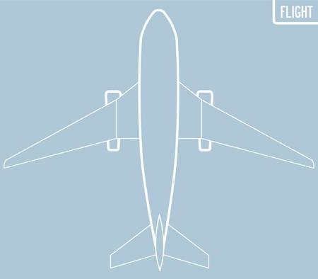 wingspan: Un disegno grafico di un Boeing verticale da un punto di vista.