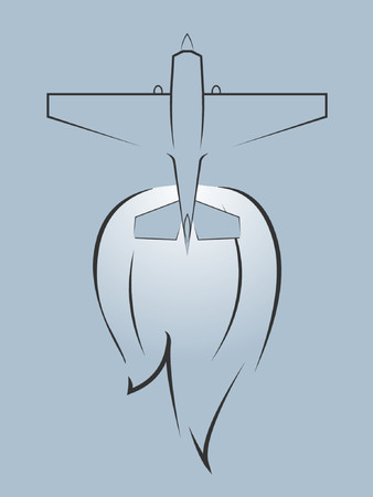 A fighter jet with wind coming off of the tail. Illustration