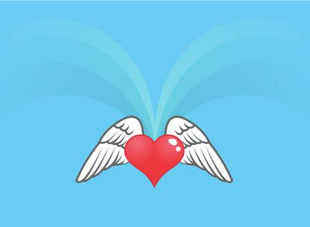 grafix: A shiny heart with wings.