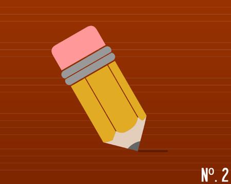 grafix: A number 2. Pencil drawing a line. Illustration