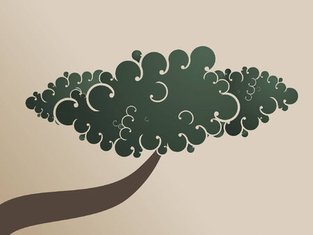 grafix: A swirly and twisty abstract bonzai tree.