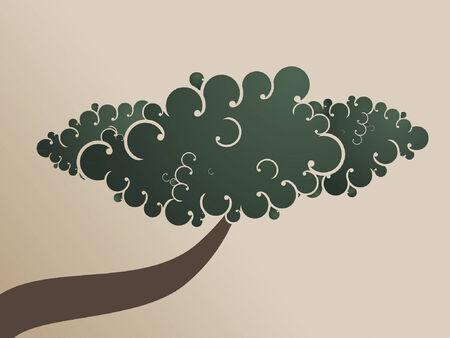 A swirly and twisty abstract bonzai tree.