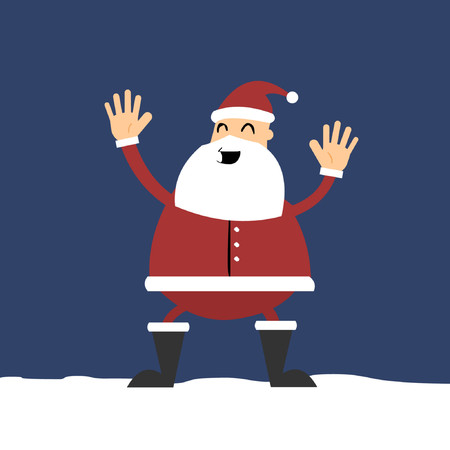 grafix: Santa Clause with a jolly smile. Illustration