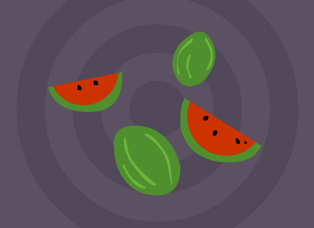 grafix: Some watermelons and slices of watermelon.