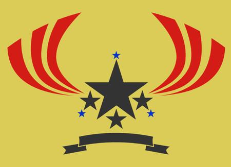 grafix: A vintage design for a badge or logo. Illustration