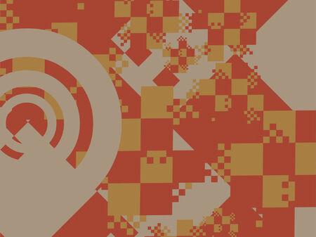 grafix: A checkered design for a background.