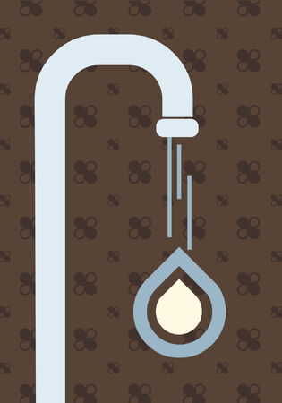 A stylistic vector design of a water faucet.
