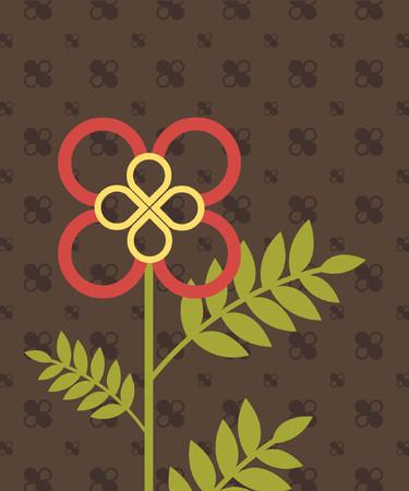 grafix: a stylistic vector design of a flower. Illustration