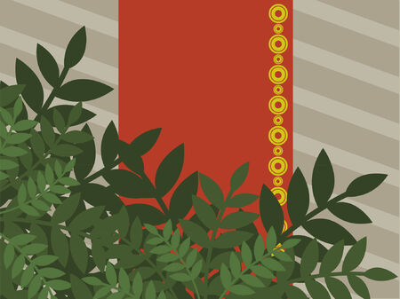 grafix: A vector design of plant like growth for a background.