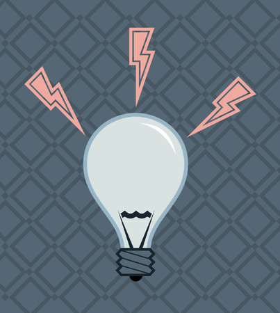 A vector illustration of a simple light bulb. Vector