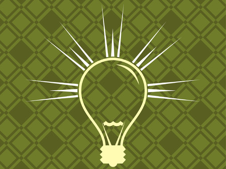 lamp shade: A vector illustration of a simple light bulb.